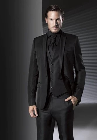 black suit combinations in
