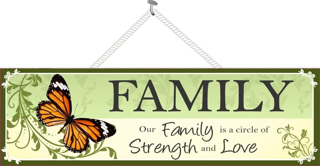 Download Family Strength & Love   Family Sign   Fun Sign Factory
