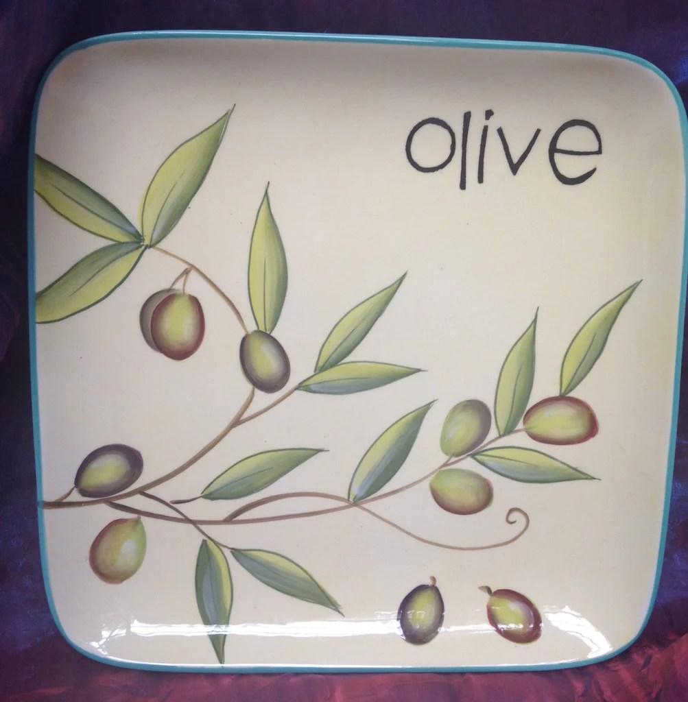 """Cypress Handpainted Ceramic Plate 8.75"""" Taste Of Italy"""