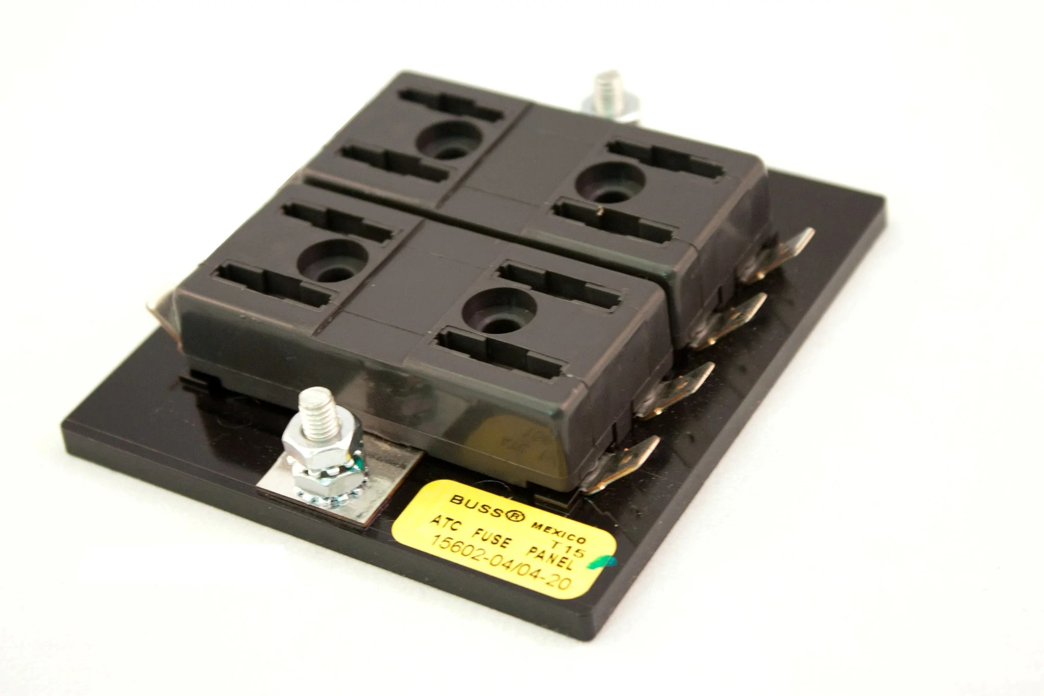 small resolution of part 15602 04 04 20 bussmann fuse block for atof atc fuses or blade road runner connect inc