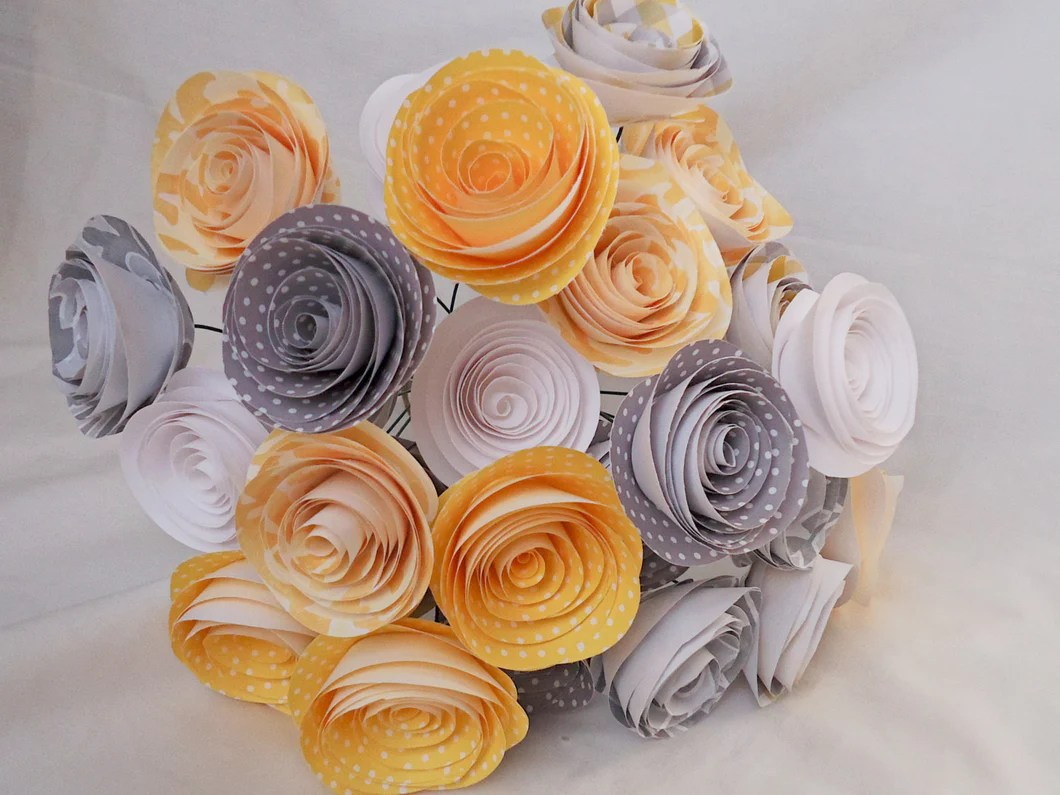 24 Yellow And Gray Roses Yellow And Gray Wedding Yellow