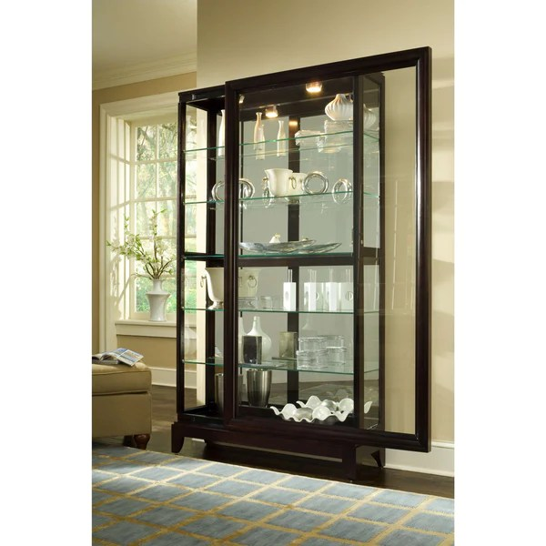 Two Way Sliding Door Curio Cabinet  Katy Furniture
