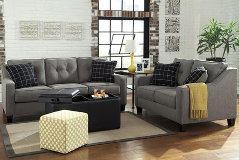 ashley furniture living room packages patterned chairs brindon sofa & loveseat – katy