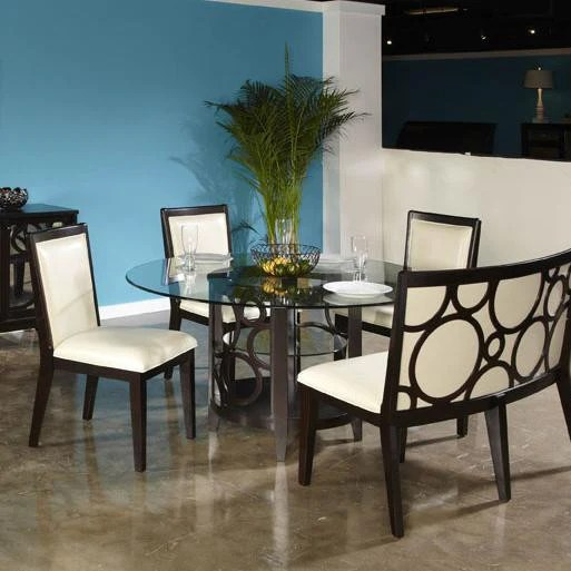 Planet Round Table w 4 Chairs  Katy Furniture