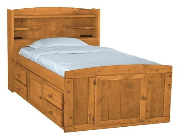 Palomino Twin Captain Bed  Katy Furniture