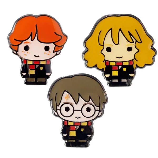 Pin Badge Set Harry Potter Hermione And Ron – Book