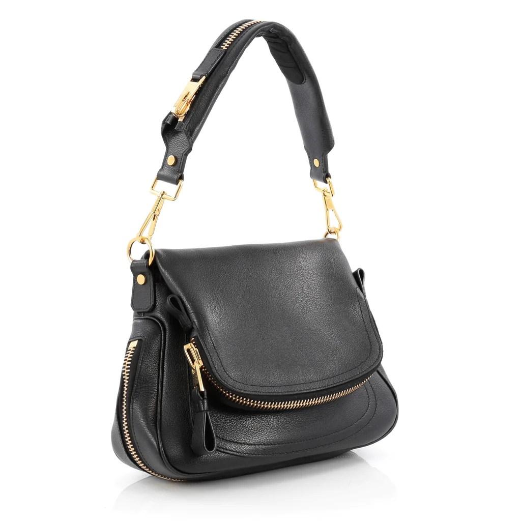 Tom Ford Jennifer Shoulder Bag Leather Small Black