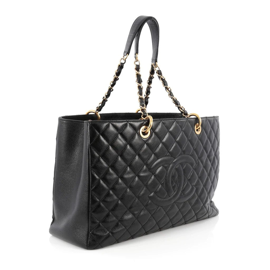 Buy Chanel Grand Shopping Tote Quilted Caviar XL Black 1854411 – Trendlee
