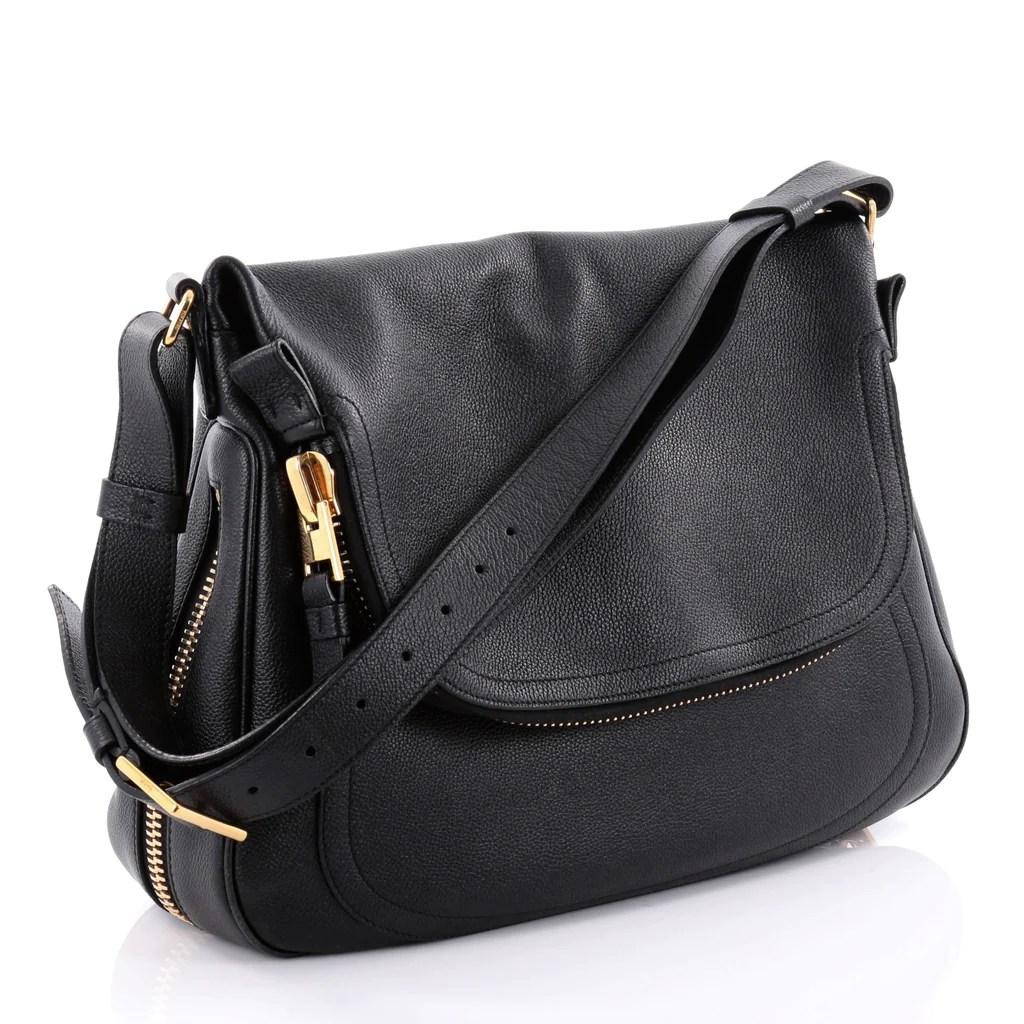 Tom Ford Jennifer Crossbody Bag Leather Large Black