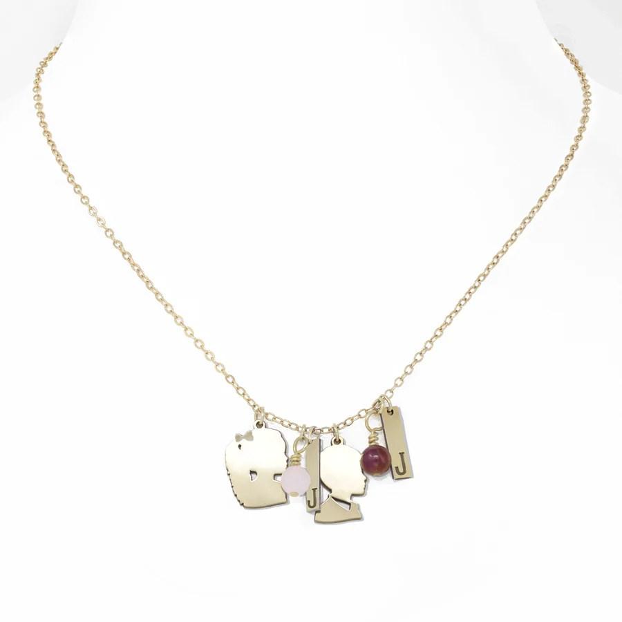 cut charm necklace