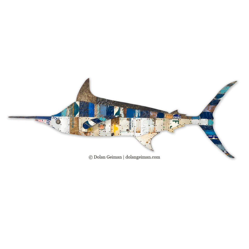 Blue Marlin Metal Fish Wall Sculpture Dolan Geiman