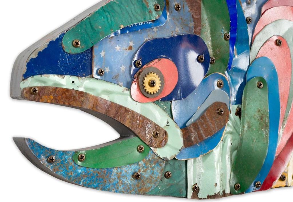 Metal Trout Fish Trophy Wall Sculpture Dolan Geiman