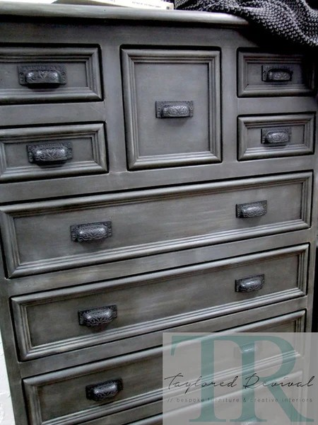 Commissioned Bedroom suite in Graphite with French Linen wash  Taylored Revival