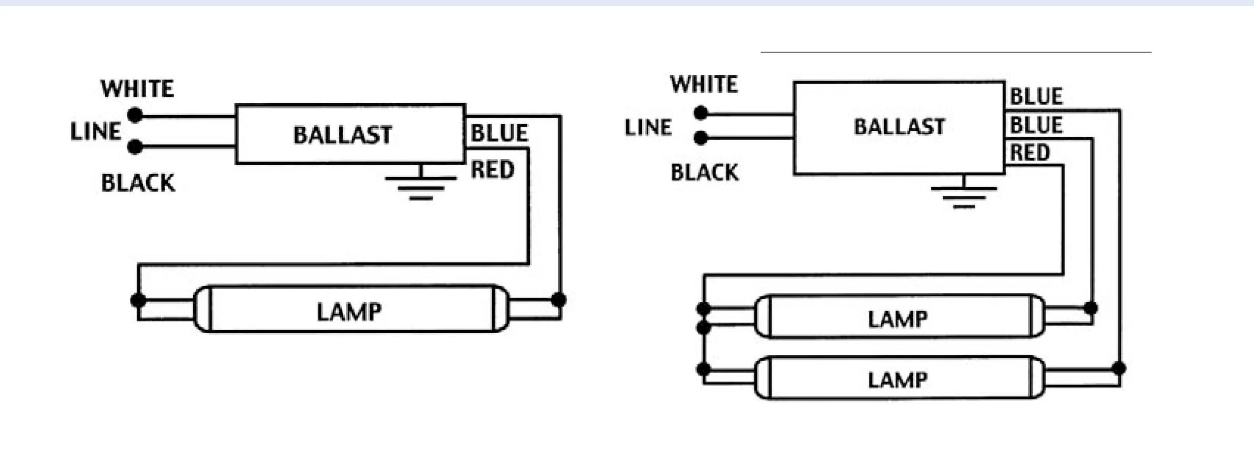 ge proline 1 or 2 lamp t8 instant start electronic ballast model ge232 120resdiy8  [ 2550 x 932 Pixel ]