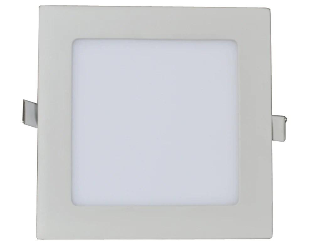 white 18 watt 9 inch indoor square recessed led panel light 4000k