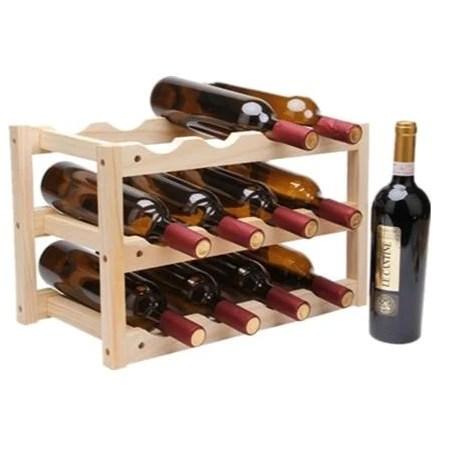 etagere range bouteille en bois 12 bouteilles