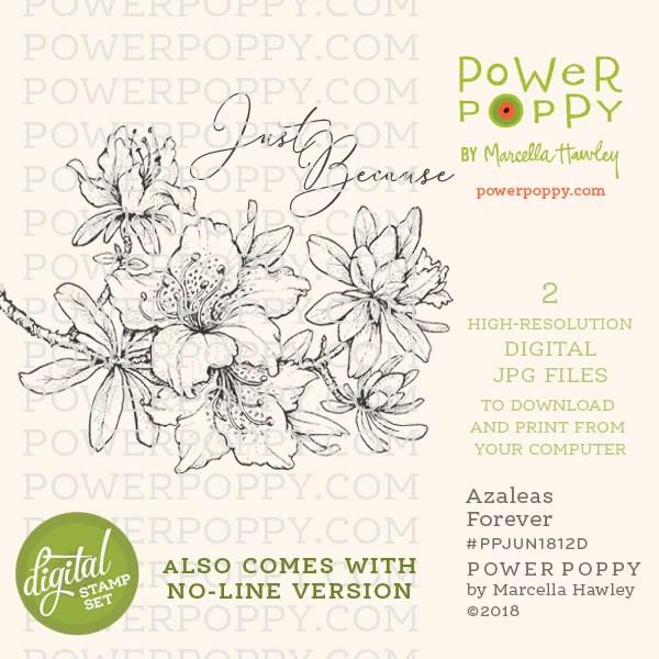 azaleas forever digital stamp