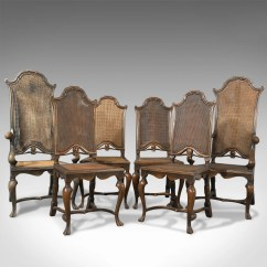 Liberty Dining Chairs Bed Pillow Chair With Arms Set Of Six Antique London Walnut Cane Details About Circa 1880