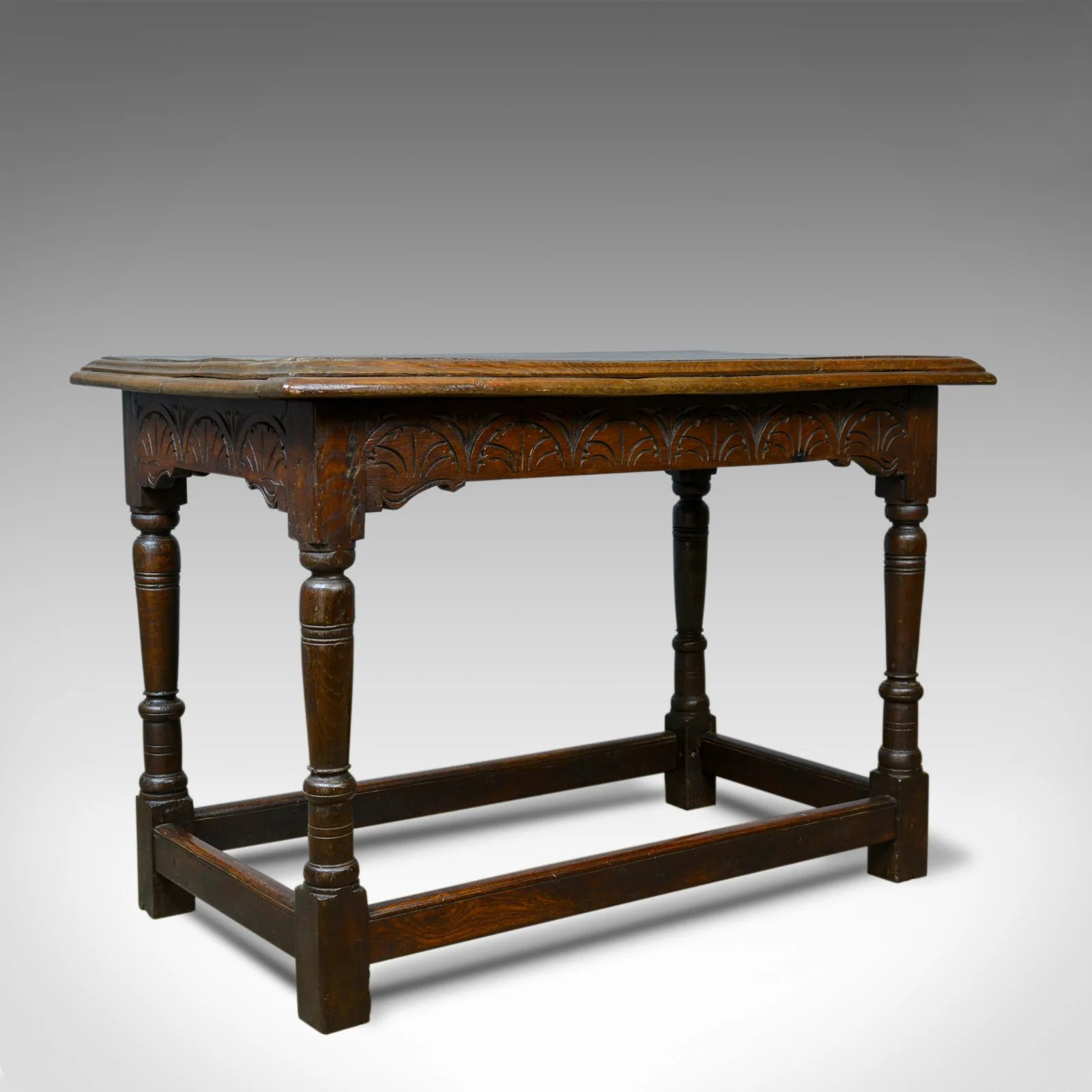 Antique Oak Console Table English Jacobean Revival Refectory C18th And Later Ebay