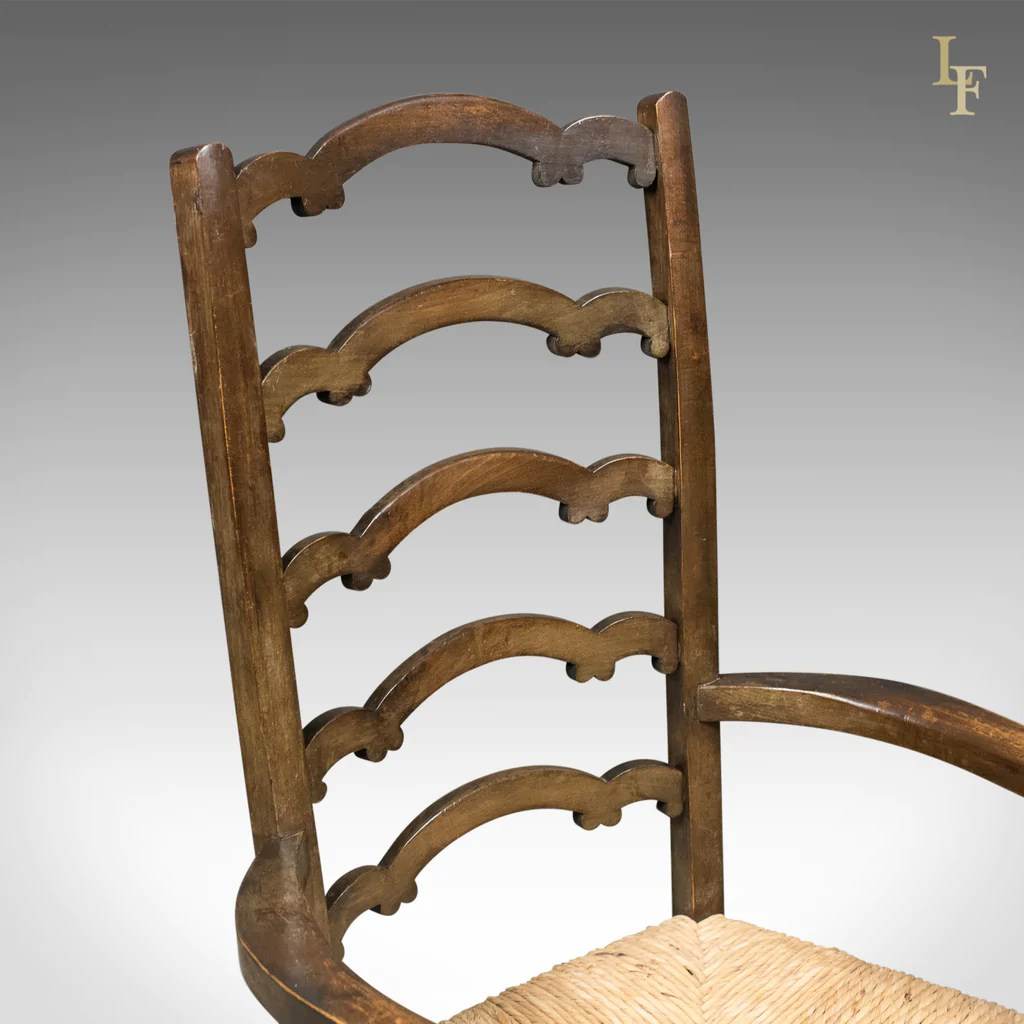 antique ladder back chairs uk posture care chair company prices pair of wavy line ladderback elbow