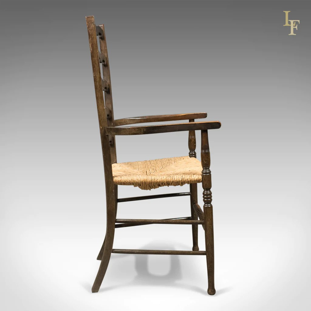 antique ladder back chairs uk chair massage seattle pair of wavy line ladderback elbow