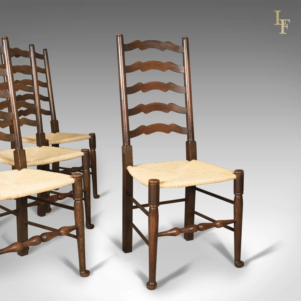 dining chair sets of 4 black elastic covers antique set 39wavy line 39 ladder back chairs