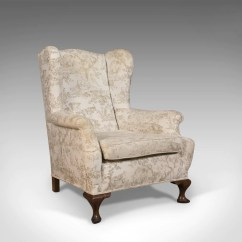 Antique Chairs Ebay Replace Chair Casters With Glides Wing Back English Victorian Armchair