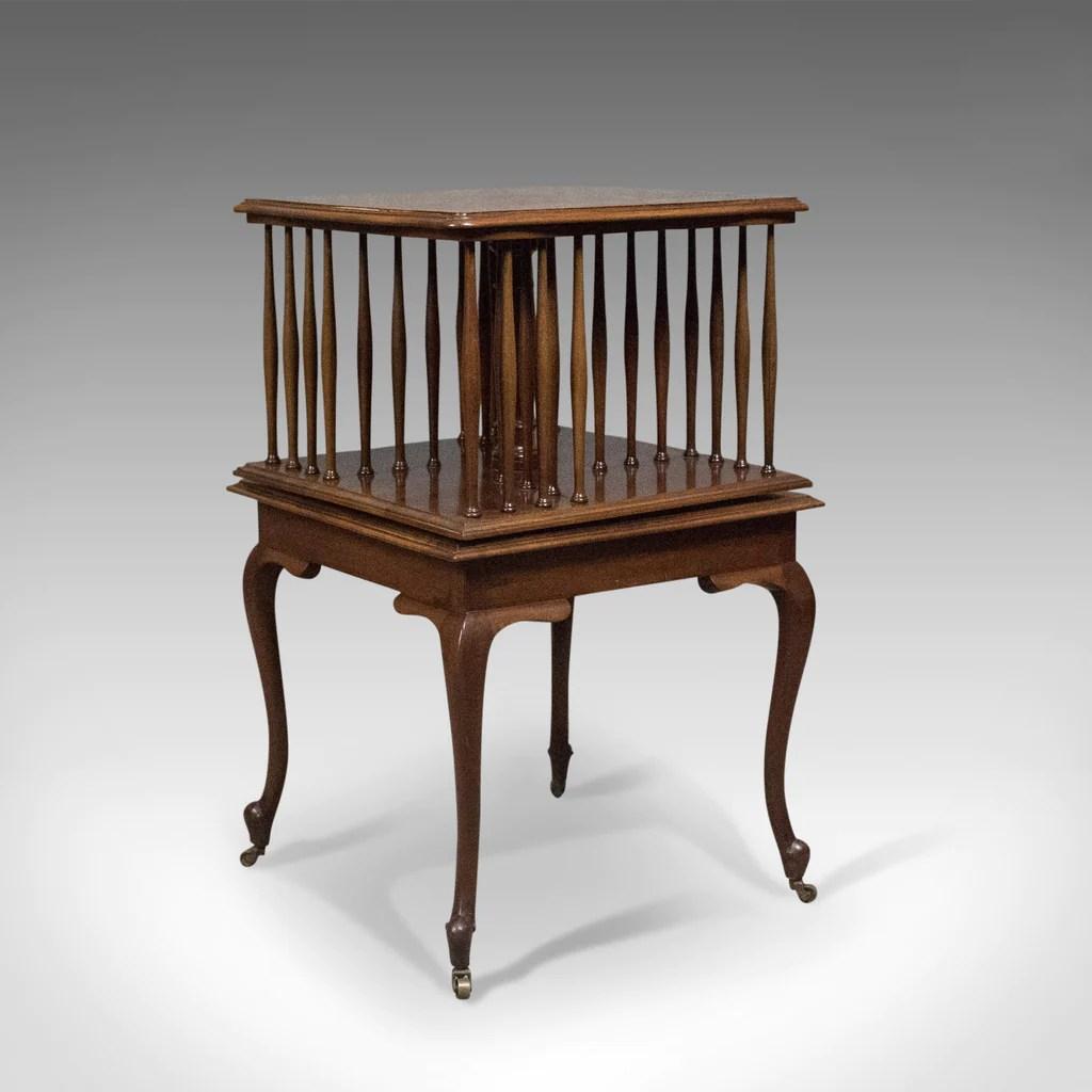 revolving dining chair chinese yoke back edwardian regency revival antique bookcase