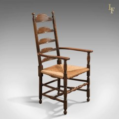 Antique Ladder Back Chairs Uk Mexican Painted Elbow Chair Dining Ladderback C 1900  London