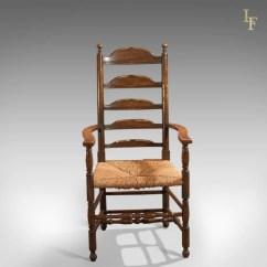Elbow Chair Stool Rattan Barrel Antique Dining Ladderback C 1900  London