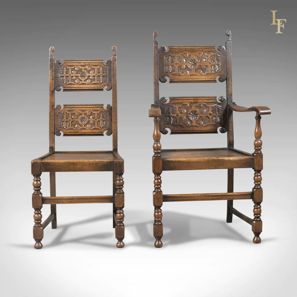 2 x 4 dining chairs motion patio scottish set of antique oak victorian c