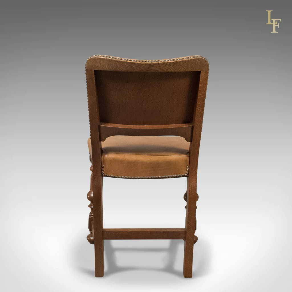 antique chairs ebay low cost chair covers ltd set of 6 dining oak and leather english