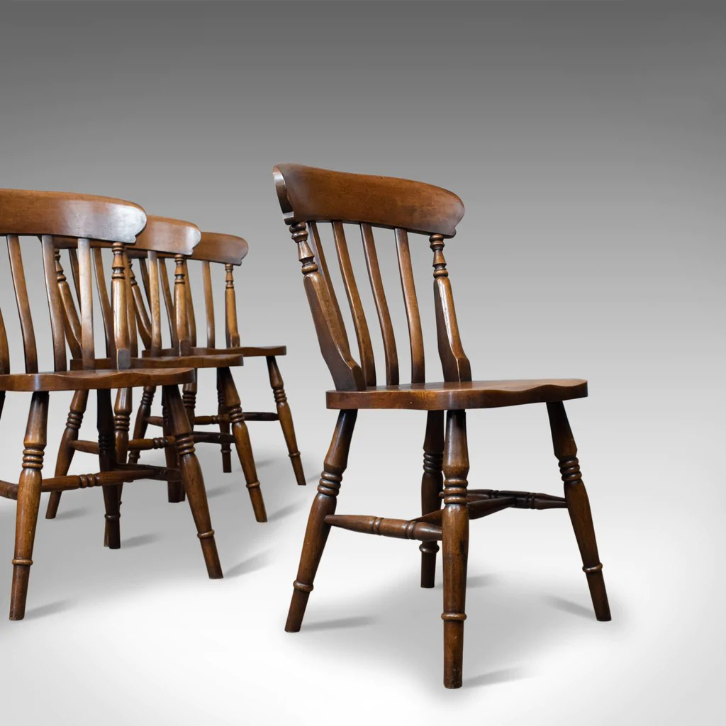 Oak Windsor Chairs Set Of Four Antique Station Chairs English Oak Windsor