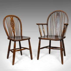 Antique Chairs Ebay Beach On Sale At Walmart Set Of Six Dining English Hoop Back