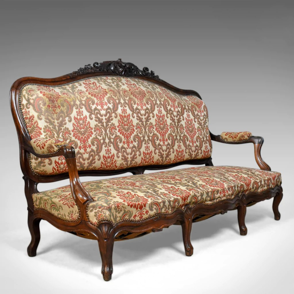 Victorian Antique Settee, Rosewood, English, 3 Seater Sofa ...