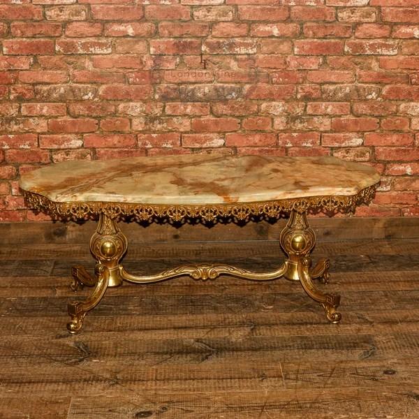 Mid Century Gilt Metal Amp Marble Coffee Table London Fine