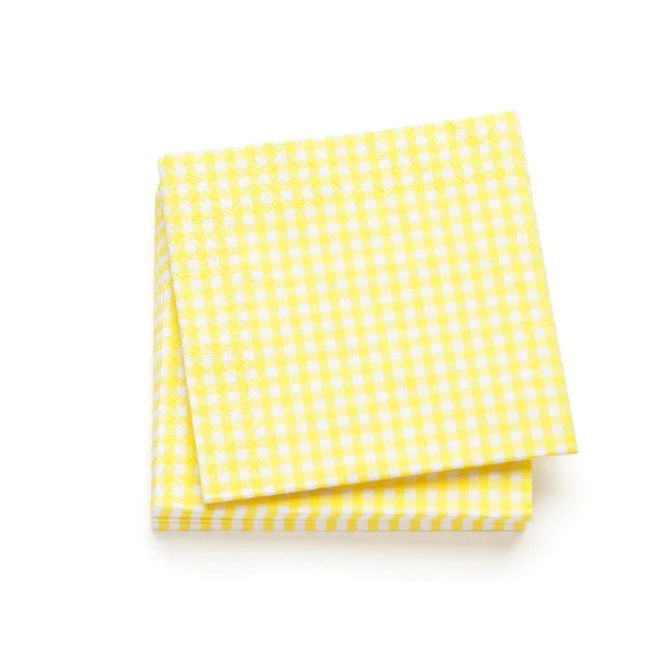 gingham cocktail napkins yellow hedgehogshop