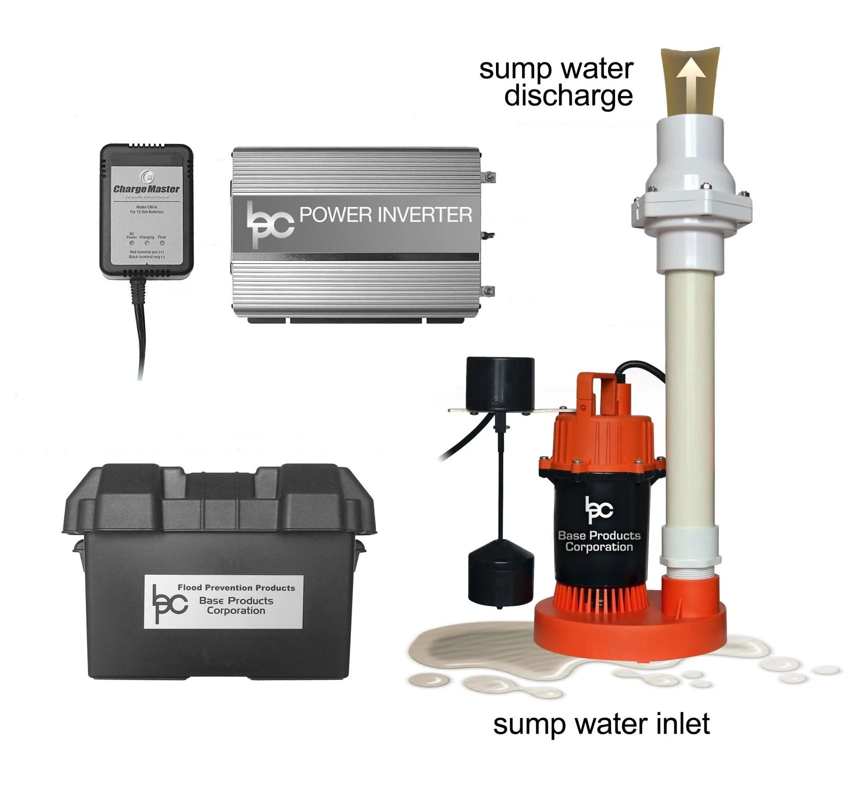 small resolution of  battery powered backup sump pump product image hydropump ph3000