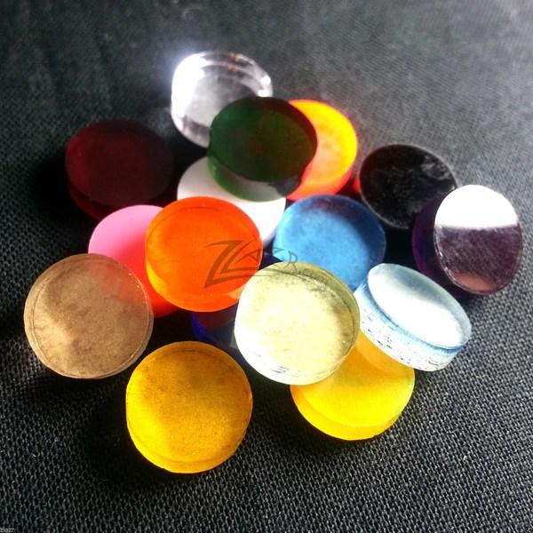 50mm Steampunk Goggle Lenses Circles Color Acrylic