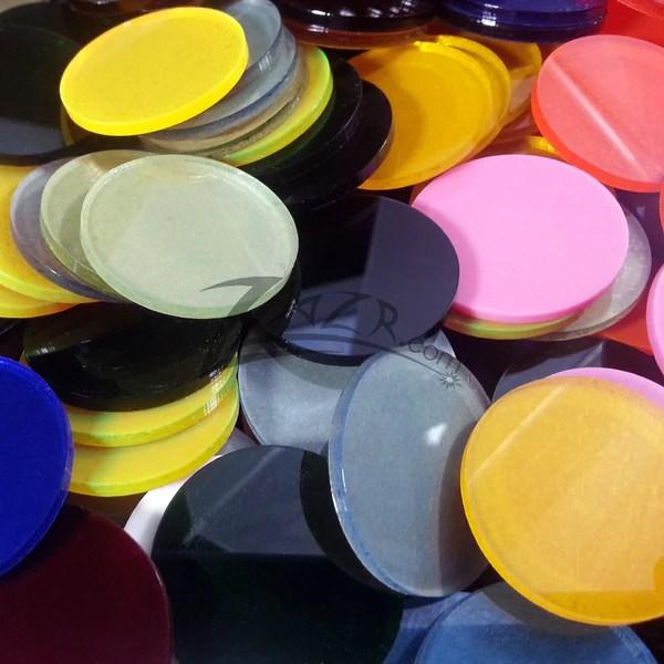 50mm SteamPunk Goggle Lenses  Circles Color Acrylic Disc  ZLazr