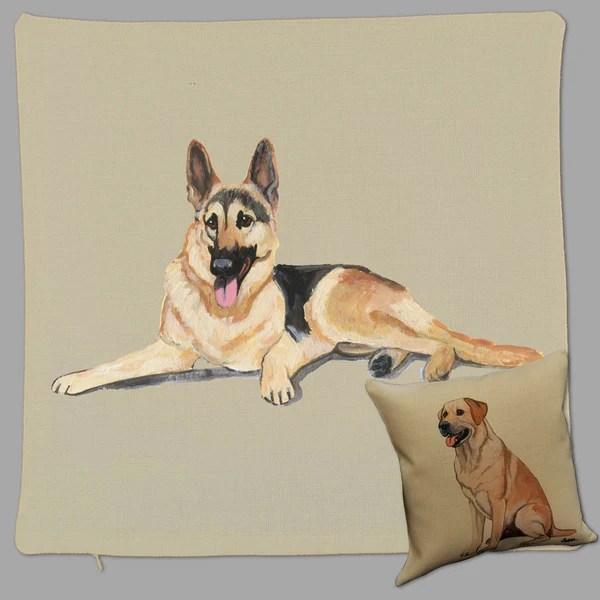 german shepherd dog pillow cover