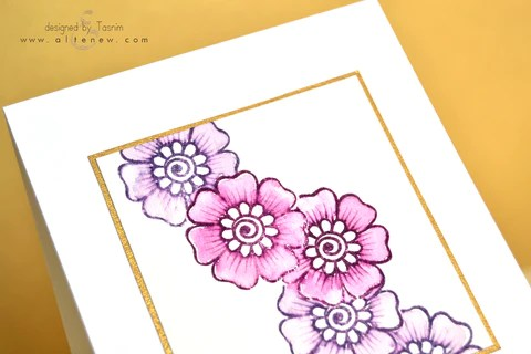 hennah elements card with Distress ink 2