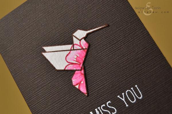ori kami hummingbird card 2