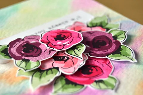 painted flowers card 6