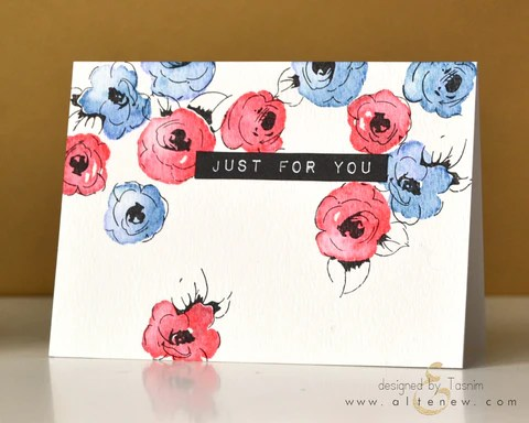 painted flowers card 3
