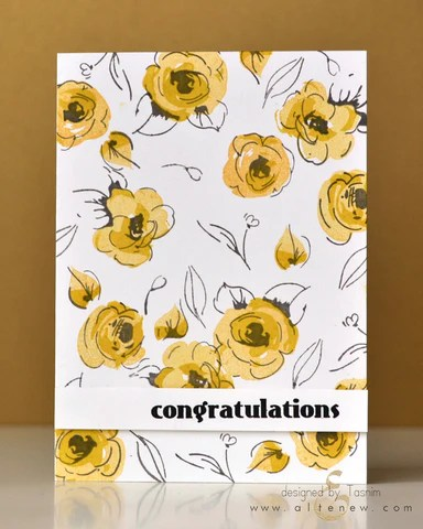 painted flowers card 1