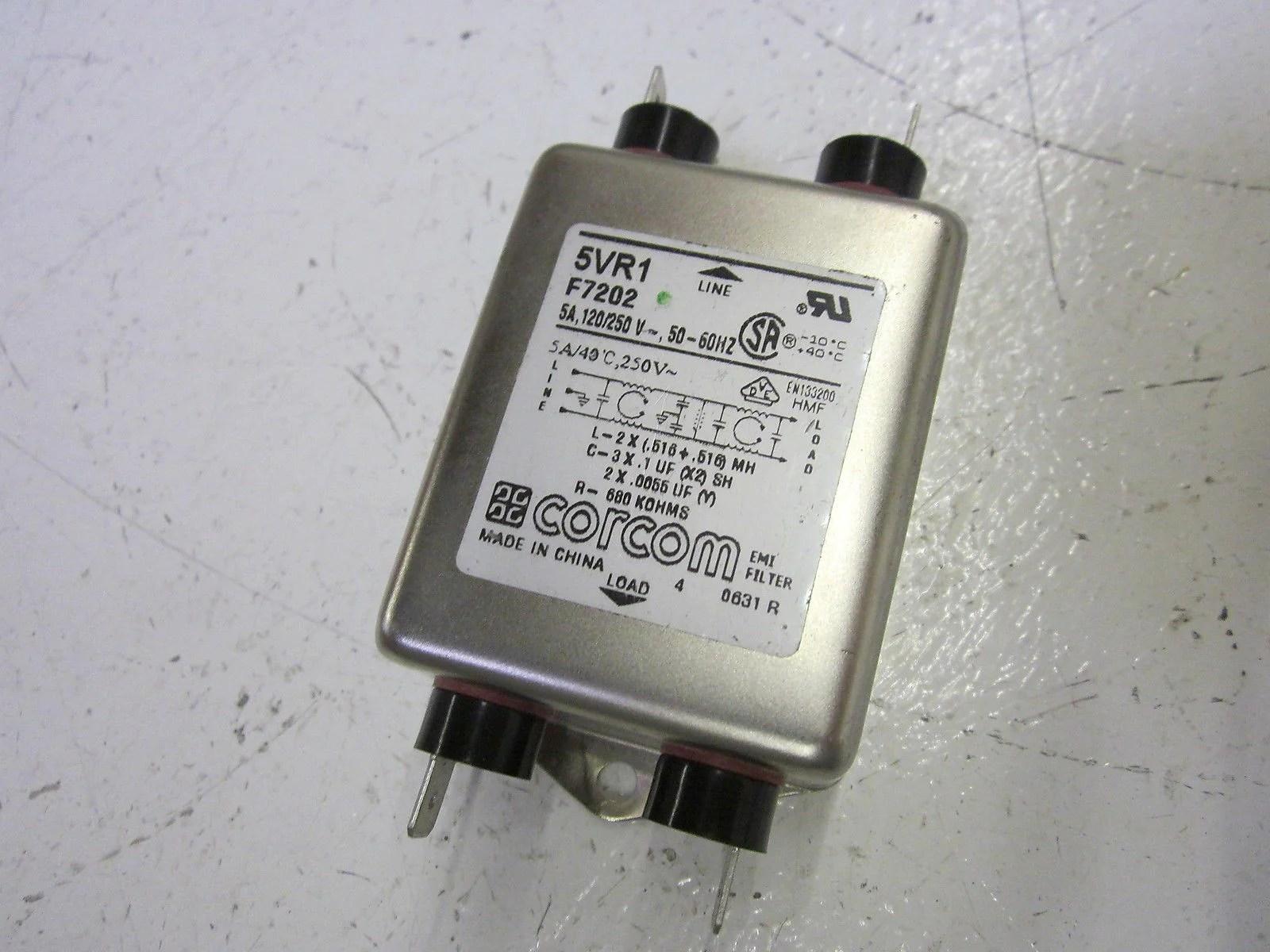 CORCOM 5VR1 F7202 EMI FILTER 120/250V *USED* – MRO Global Solutions