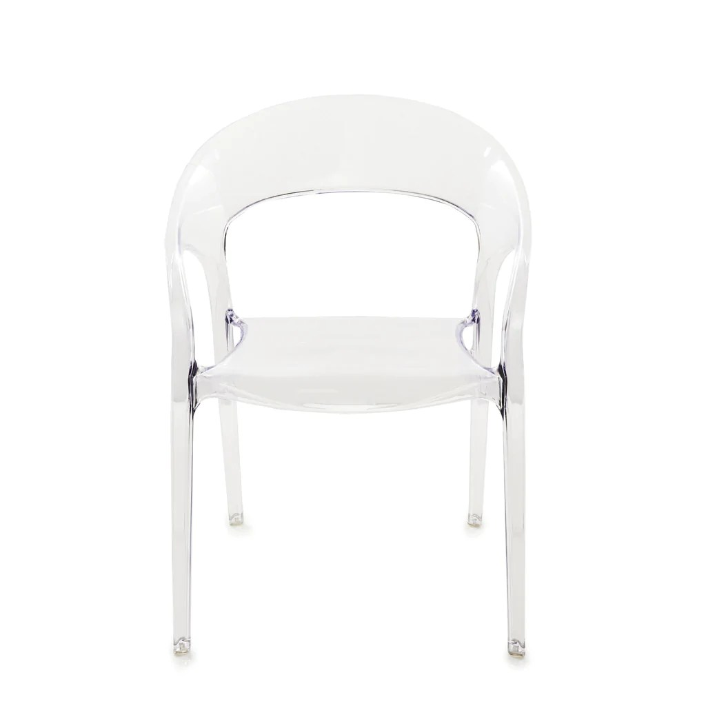 clear acrylic chair wrought iron chairs outdoor india chloe  laurier blanc unique home