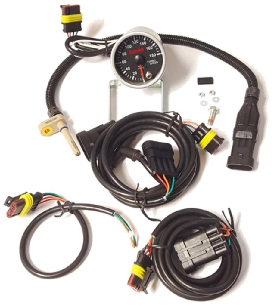 hight resolution of garrett turbocharger g series speed sensor kit with gauge p n 781 exoticspeed inc