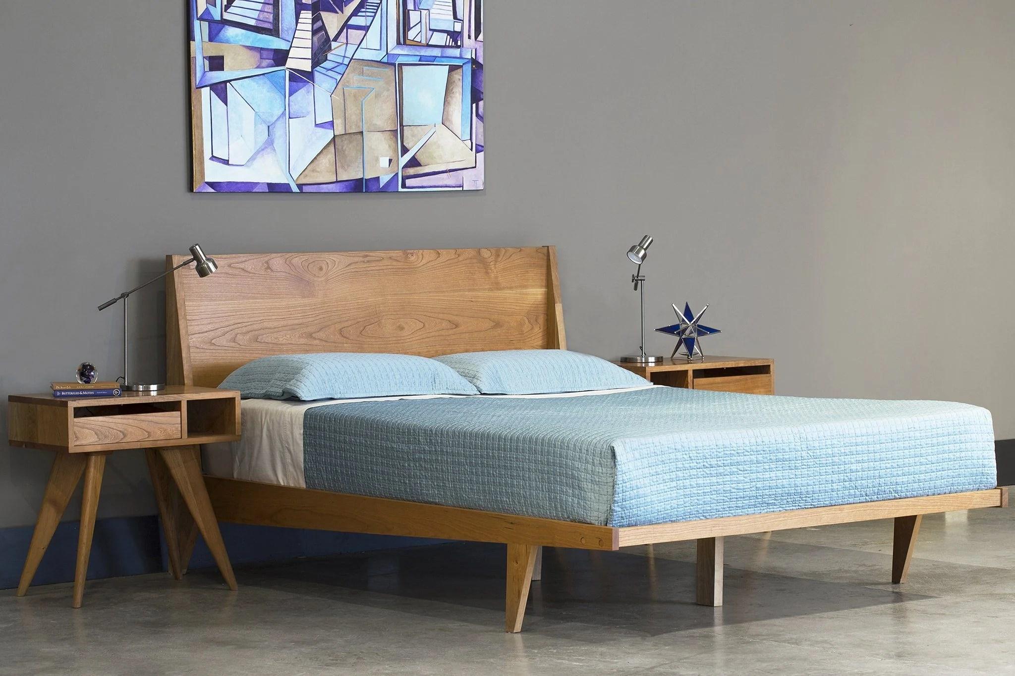 midcentury modern bed